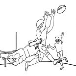NFL, Tackling In NFL Coloring Page: Tackling in NFL Coloring Page