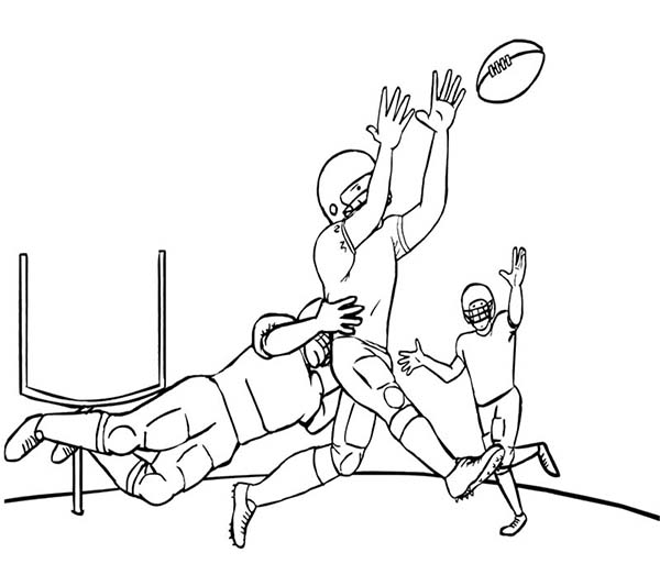 NFL, : Tackling in NFL Coloring Page
