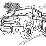 Police Car, Tactical Team Police Car Coloring Page: Tactical Team Police Car Coloring Page