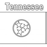 State Flag, Tennessee State Flag Coloring Page: Tennessee State Flag Coloring Page