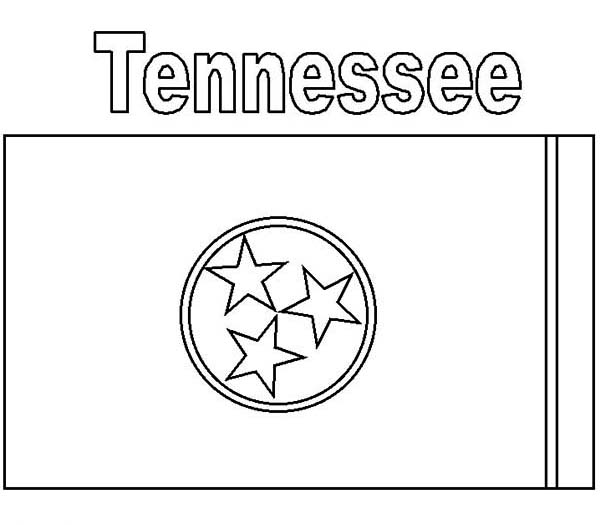 State Flag, : Tennessee State Flag Coloring Page