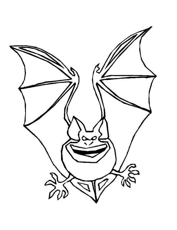 Bats, : Terrifying Bats Coloring Page