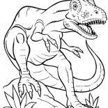 T-Rex, Terrifying Dinosaurus T Rex Coloring Page: Terrifying Dinosaurus T Rex Coloring Page