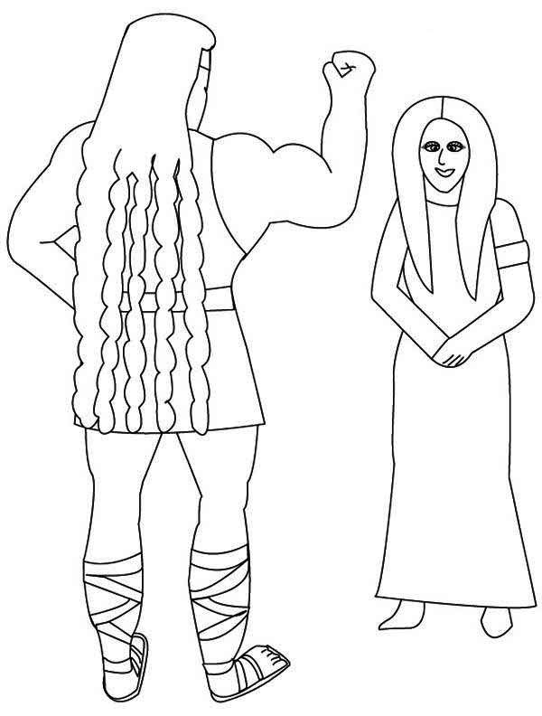 Samson, : The Amazing Samson Coloring Page