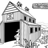Barn, The Barn The Series Coloring Page: The Barn The Series Coloring Page