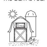 Barn, The Barn Is Red Coloring Page: The Barn is Red Coloring Page