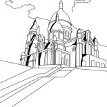 Middle Ages, The Basilica Of The Sacred Heart Of Paris In Middle Ages Coloring Page: The Basilica of the Sacred Heart of Paris in Middle Ages Coloring Page