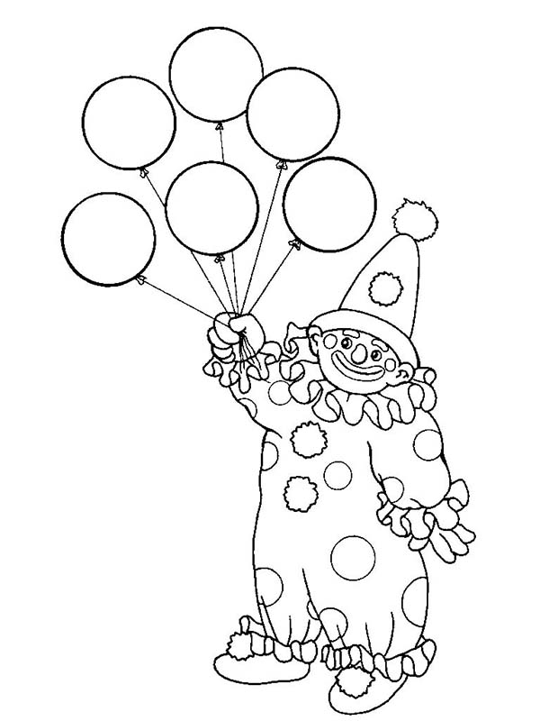 clown party circus coloring pages - photo#26