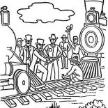 Railroad, The First Transcontinental Railroad Coloring Page: The First Transcontinental Railroad Coloring Page