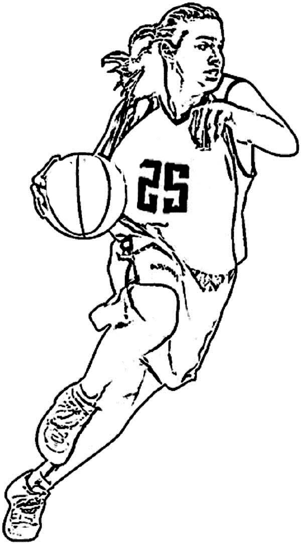 NBA, : The Greatest NBA Coloring Page