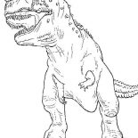 T-Rex, The Legendary T Rex Coloring Page: The Legendary T Rex Coloring Page