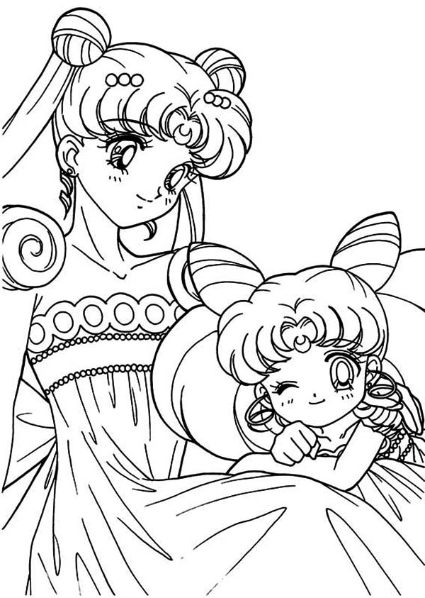 Free Printable Sailor Moon Coloring Pages For Kids | Moon coloring ... | 843x600
