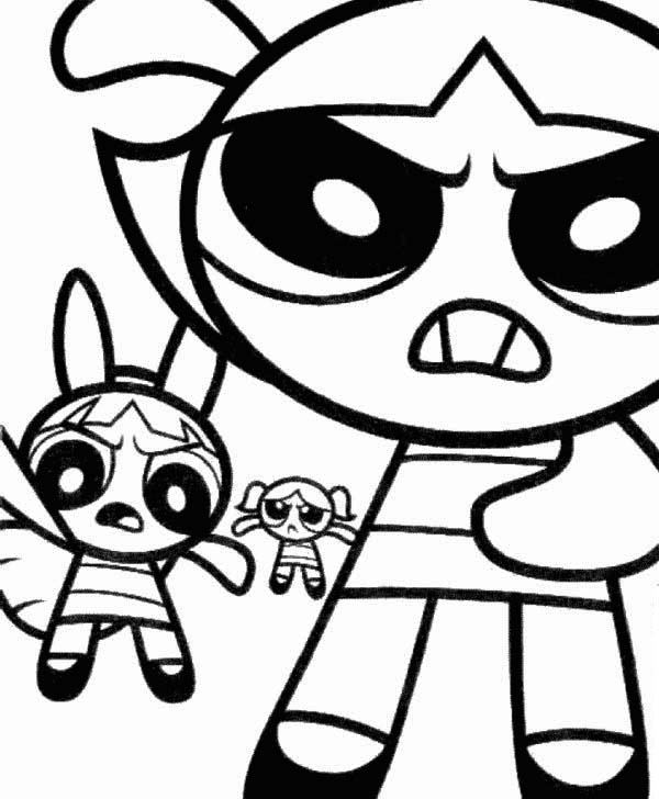 The Powerpuff Girls Are Angry Coloring Page : Color Luna