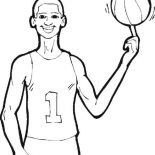 NBA, The Tallest NBA Player Coloring Page: The Tallest NBA Player Coloring Page