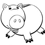 Piggy Bank, Toy Story Fat Piggy Bank Coloring Page: Toy Story Fat Piggy Bank Coloring Page