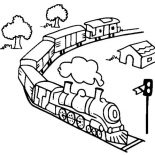 Trains, Toy Train Coloring Page: Toy Train Coloring Page