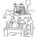 Digger, Tractor The Digger Coloring Page: Tractor the Digger Coloring Page