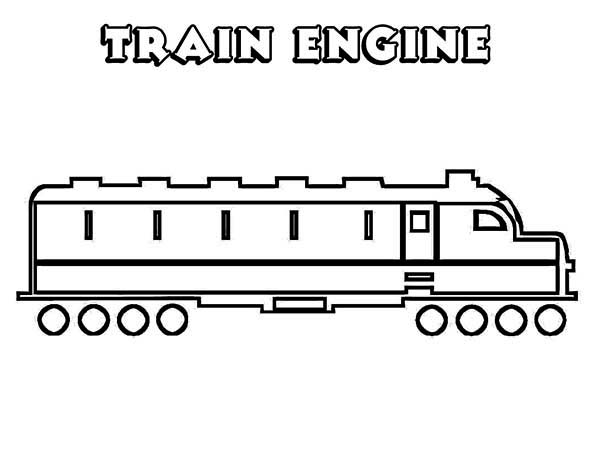Trains, : Train Engine Coloring Page
