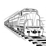Trains, Train Locomotive Coloring Page: Train Locomotive Coloring Page