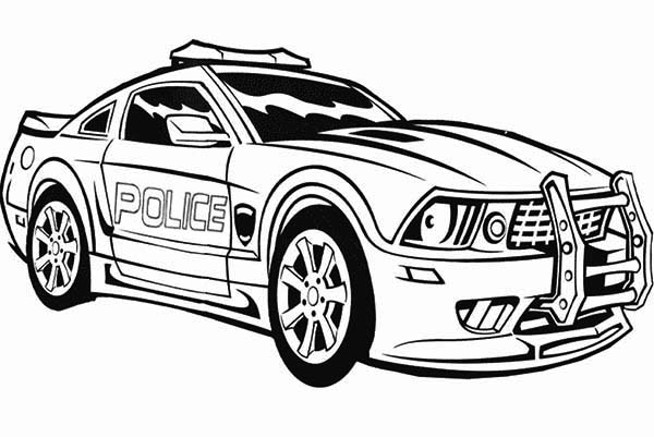 Police Car, : Transformers Police Car Coloring Page