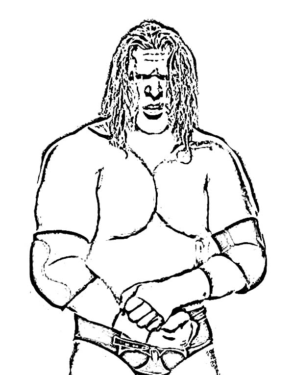 Wrestling, : Triple H from World Wrestling Entertainment  Coloring Page