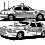 Police Car, Two Awesome Police Car Coloring Page: Two Awesome Police Car Coloring Page