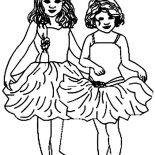 Ballerina, Two Little Ballerina Coloring Page: Two Little Ballerina Coloring Page