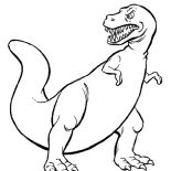 T-Rex, Tyrannosaurus Is T Rex Coloring Page: Tyrannosaurus is T Rex Coloring Page