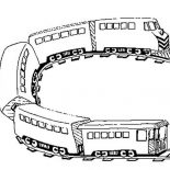 Railroad, U Turn On Railroad Coloring Page: U Turn on Railroad Coloring Page