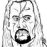 Wrestling, Undertaker From World Wrestling Entertainment  Coloring Page: Undertaker from World Wrestling Entertainment  Coloring Page