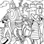 Railroad, Union Central Railroad Coloring Page: Union Central Railroad Coloring Page