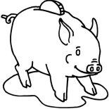 Piggy Bank, Use Piggy Bank To Save Your Money Coloring Page: Use Piggy Bank to Save Your Money Coloring Page