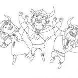 Mike the Knight, Vikings Dance In Mike The Knight Coloring Page: Vikings Dance in Mike the Knight Coloring Page