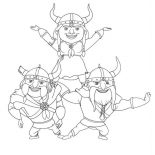 Mike the Knight, Vikings Formation In Mike The Knight Coloring Page: Vikings Formation in Mike the Knight Coloring Page