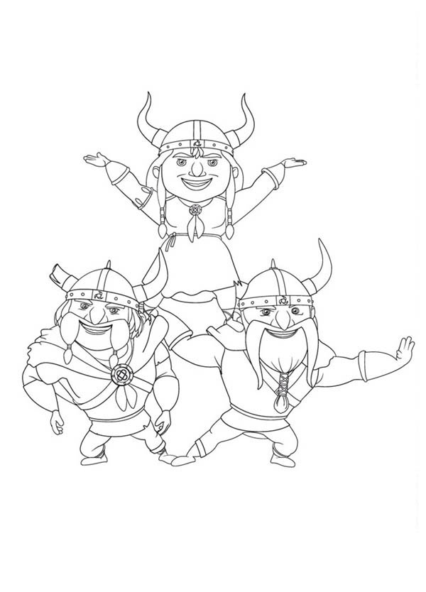 Mike the Knight, : Vikings Formation in Mike the Knight Coloring Page