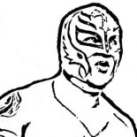 Wrestling, WWE Wrestling Contender Rey Mysterio Coloring Page: WWE Wrestling Contender Rey Mysterio Coloring Page