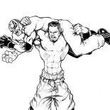 Wrestling, WWE Wrestling Show Coloring Page: WWE Wrestling Show Coloring Page