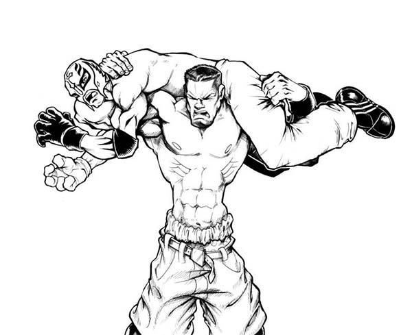 Wrestling, : WWE Wrestling Show Coloring Page