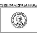 State Flag, Washington State Flag Coloring Page: Washington State Flag Coloring Page