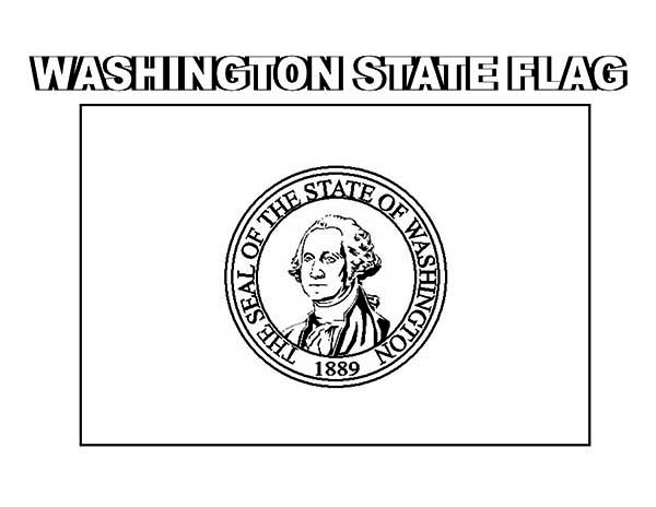 State Flag, : Washington State Flag Coloring Page
