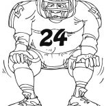 NFL, Wiscosin Rosebowl In NFL Coloring Page: Wiscosin Rosebowl in NFL Coloring Page