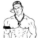Wrestling, Wrestling Decisive Contender John Cena Coloring Page: Wrestling Decisive Contender John Cena Coloring Page