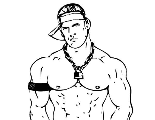 Wrestling, : Wrestling Decisive Contender John Cena Coloring Page