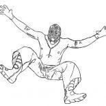 Wrestling, Wrestling Opponent Rey Mysterio Coloring Page: Wrestling Opponent Rey Mysterio Coloring Page