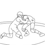 Wrestling, Wrestling Tournament Coloring Page: Wrestling Tournament Coloring Page