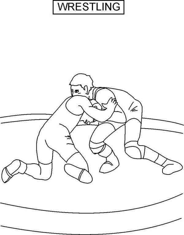 Wrestling, : Wrestling Tournament Coloring Page