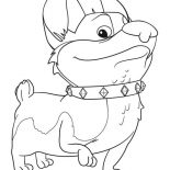 Mike the Knight, Yip And Yap The Corgis In Mike The Knight Coloring Page: Yip and Yap the Corgis in Mike the Knight Coloring Page