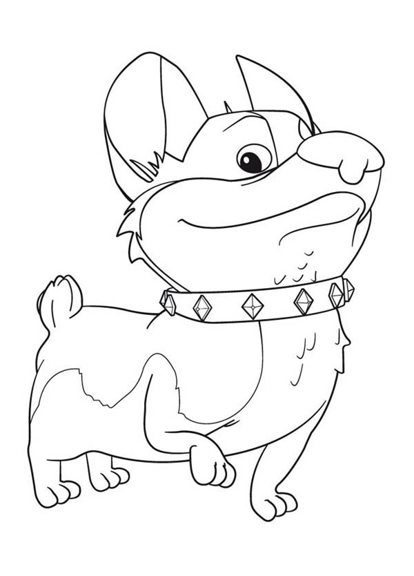 Mike the Knight, : Yip and Yap the Corgis in Mike the Knight Coloring Page