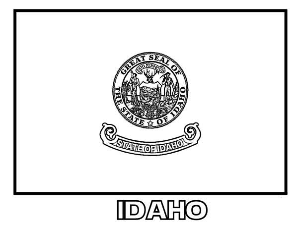 State Flag, : idaho-state-flag-coloring-page-32133