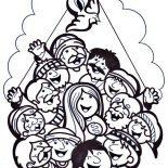 Pentecost, A Feast For Follower Of Jesus In Pentecost Coloring Page: A Feast for Follower of Jesus in Pentecost Coloring Page